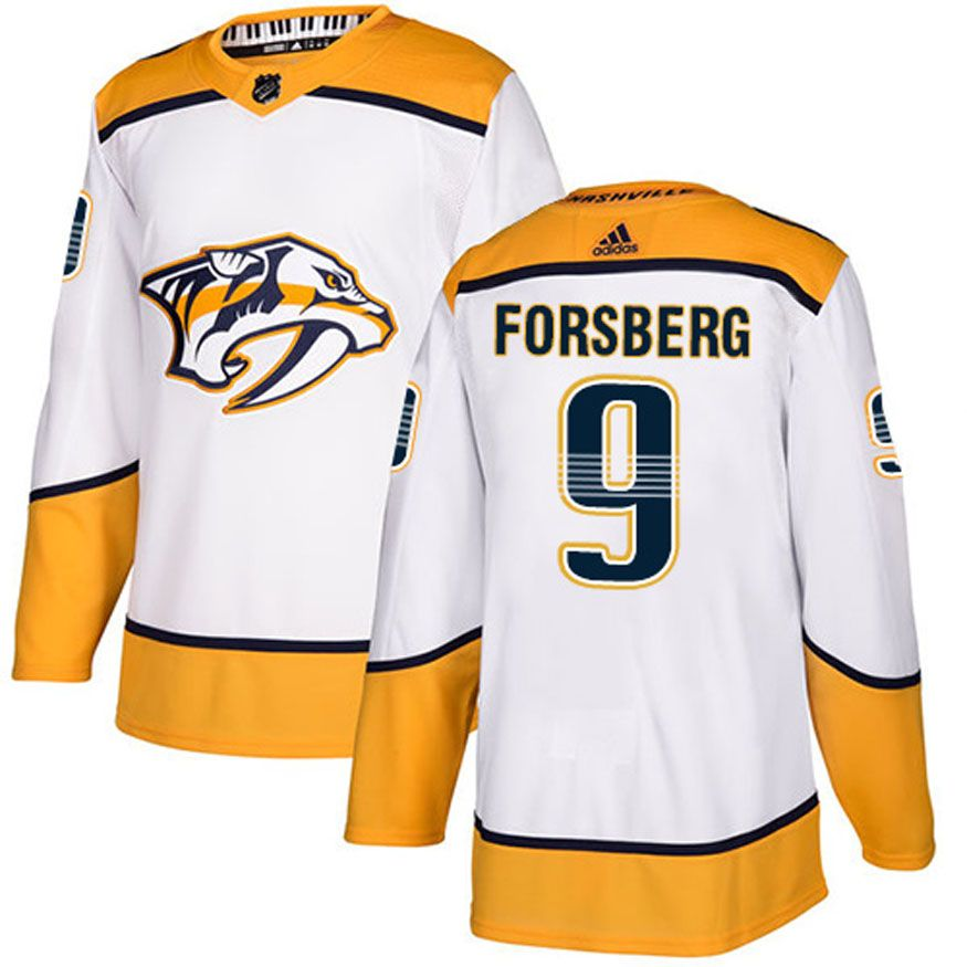 47928559a Men s adidas Nashville Predators Filip Forsberg Authentic Pro Road Jersey  (White)