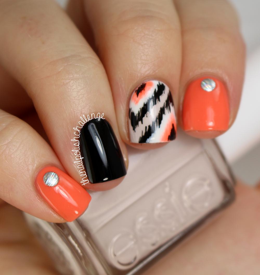 Halloween Nail Polish Designs: The Nail Polish Challenge: Ikat Skittle Using