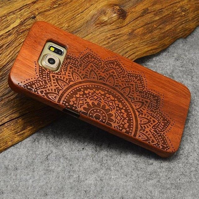 Engraved Wooden Phone Case for Samsung