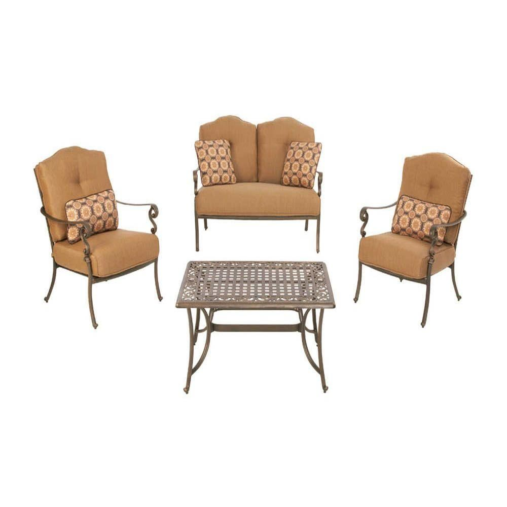 Martha Stewart Living Miramar II 4-Piece Patio Seating Set with ...