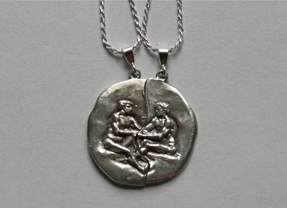 Set sterling silver gay man couple pendant mizpah coin medallion set sterling silver gay man couple pendant mizpah coin medallion romance committed relationship nude charm jewelry aloadofball Choice Image