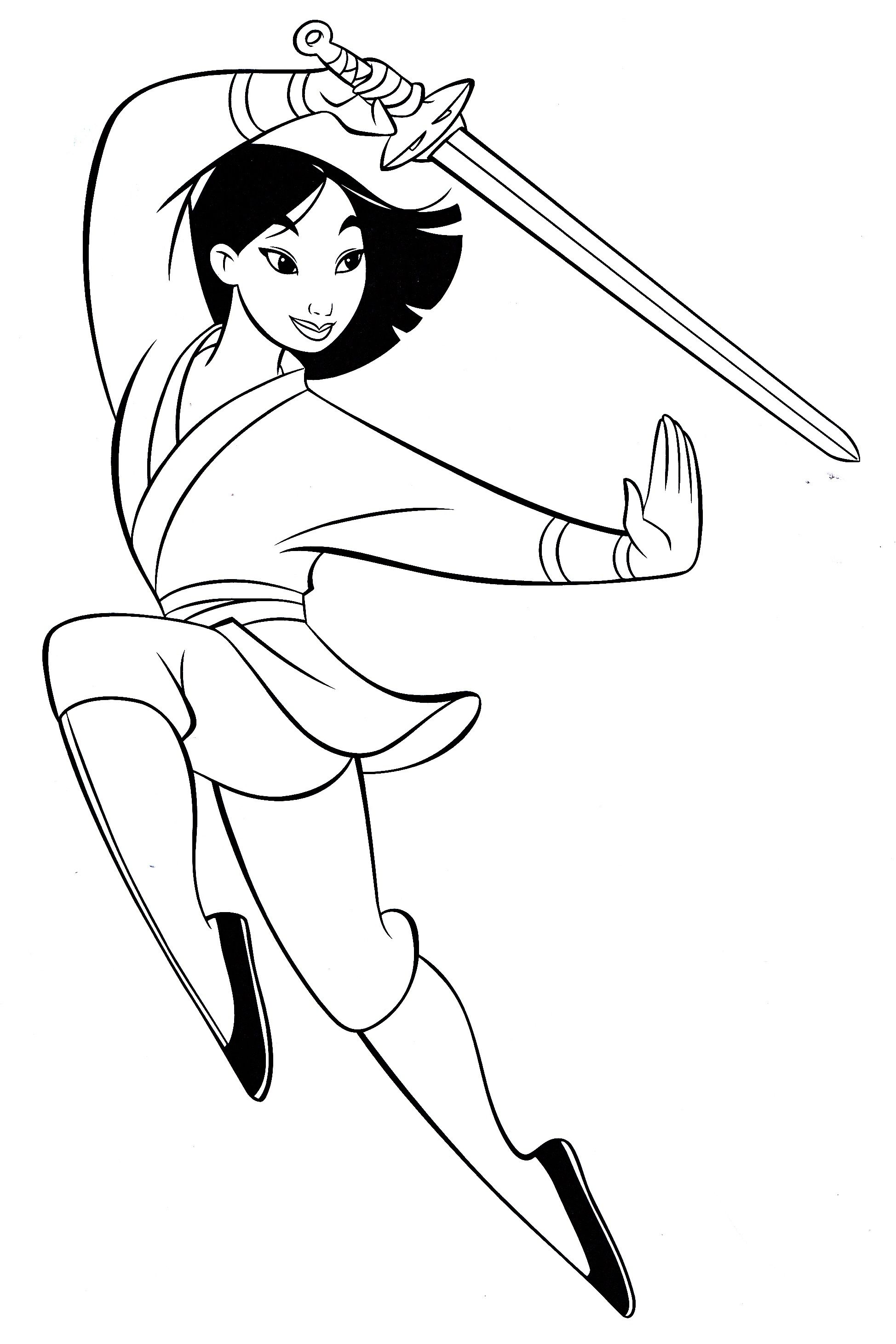 Mulan Coloring Pages Disney coloring pages Disney