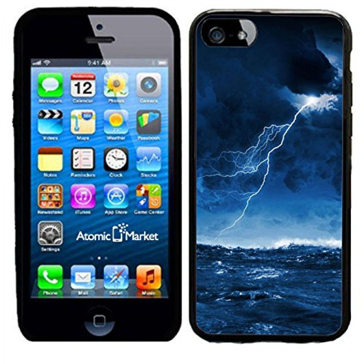 IP6 Ocean Storm With Lighting Bolt For Iphone 6 Case Cover By Atomic