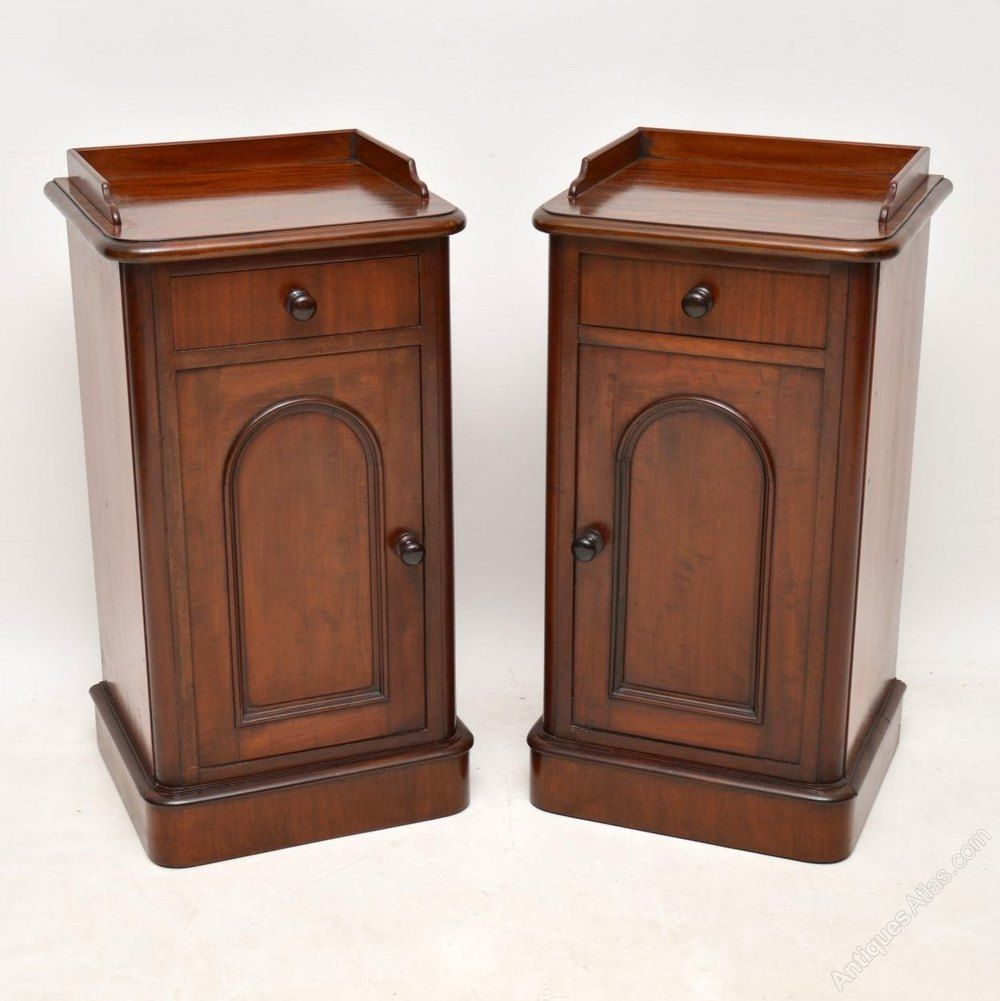 reputable site 7c75d 6fd8b Pair Of Victorian Mahogany Bedside Cabinets - Antiques Atlas ...