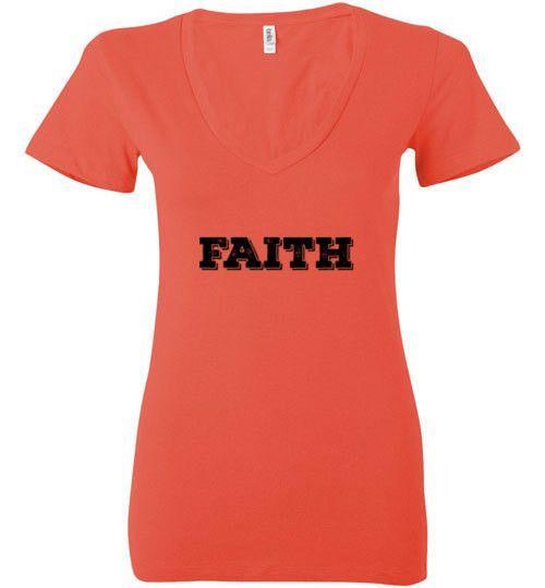 Faith Like Wifi (Bella Ladies V-Neck)