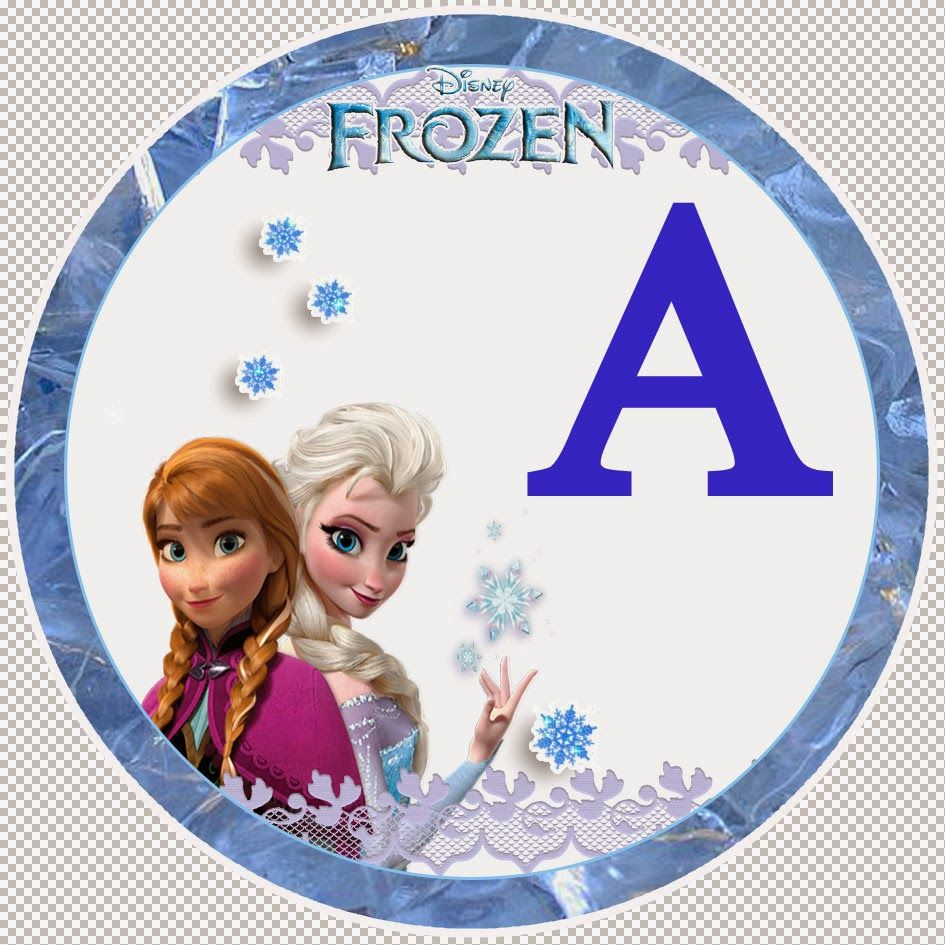 Frozen Alphabet Letters For Printable Party Banner Free