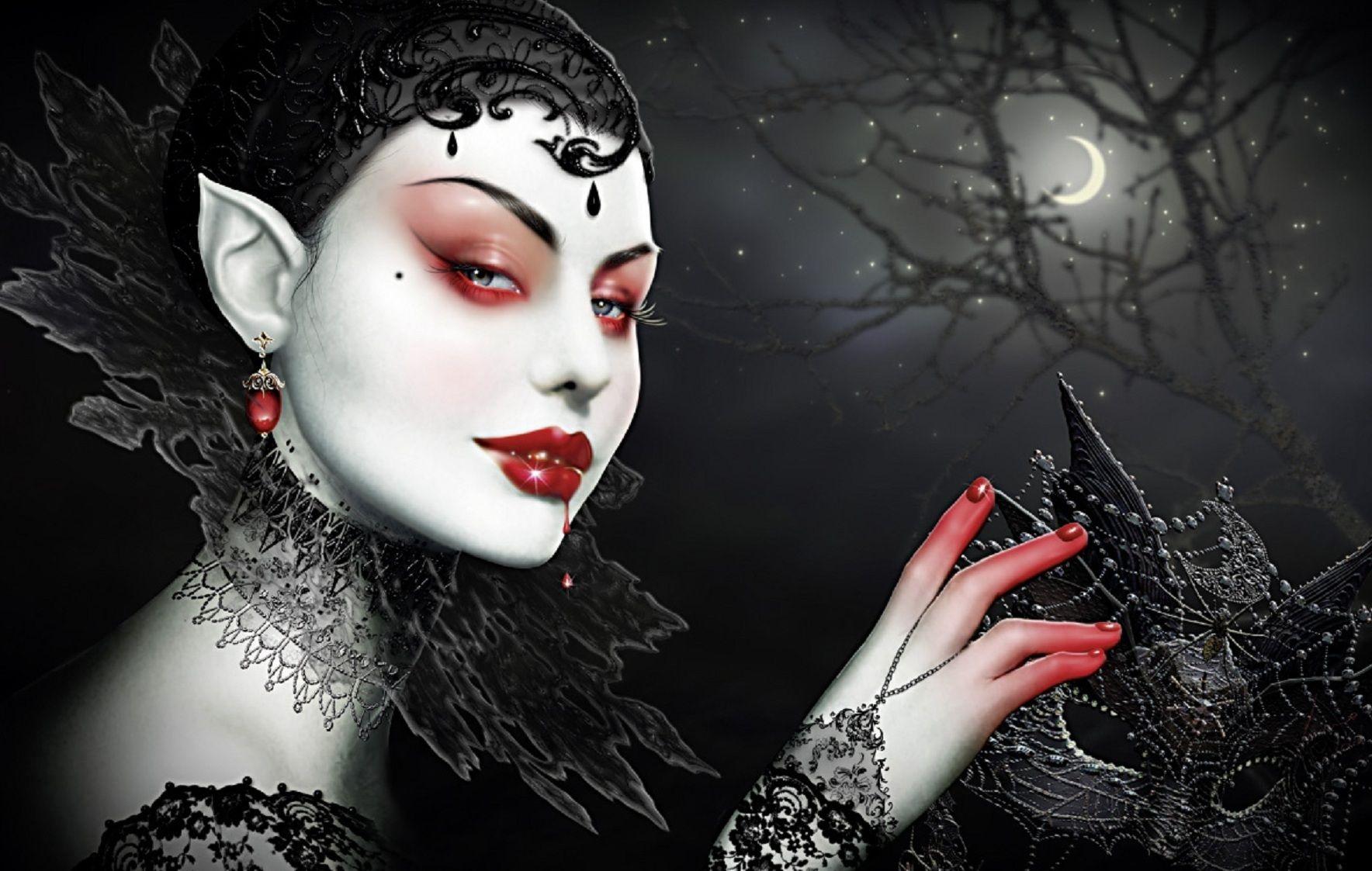 wallpaper dark makeup - photo #15