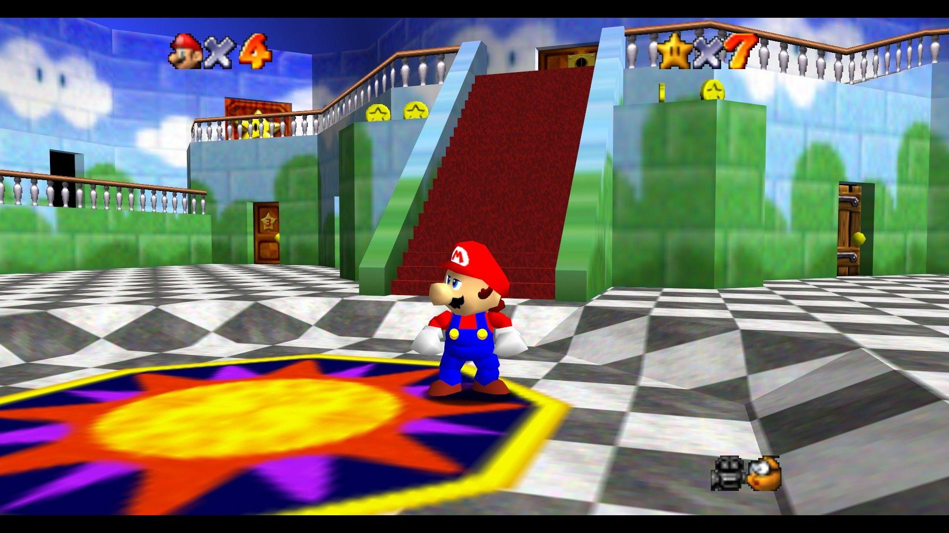Super Mario 64 (Nintendo 64 1996) | Old nintendo games, Super mario 3d, Super mario