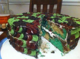Camo Cake For my Mans Birthday Cake Yummy Pinterest Camo