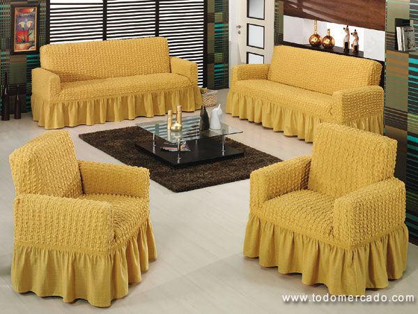 Fundas para sillones 1 2 3 cuerpos un living en minutos for Fundas para muebles