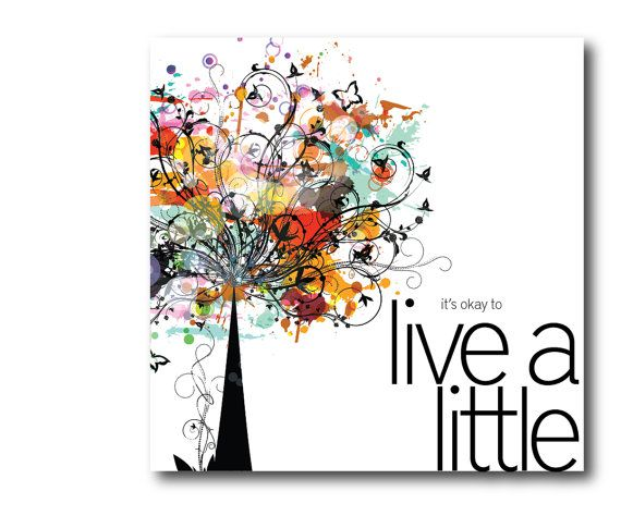 Live a Little Card  Digital File by BlueIrisStudio on Etsy