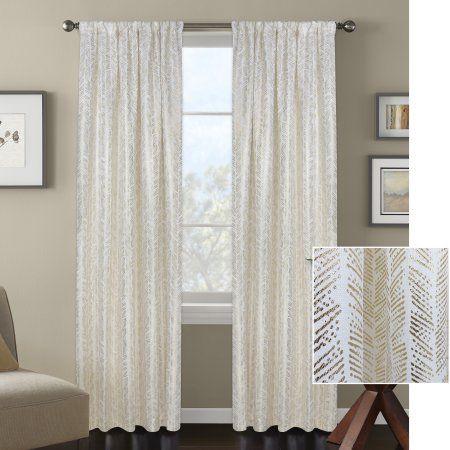 0f45b11e3ca8d251295911c2abd1de1d - Better Homes & Gardens Metallic Foil Trellis Curtain Panel