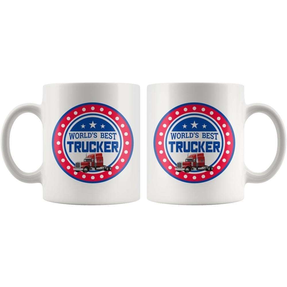 Truck Driver Mug Worlds Best Trucker White Coffee Mug