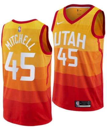 on sale 7f4ce ccbfd Nike Men Donovan Mitchell Utah Jazz City Swingman Jersey ...