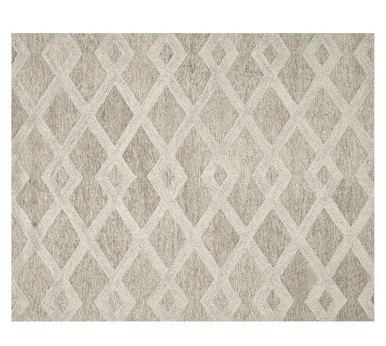 Chase Textured Hand Tufted Wool Rug Natural Natural Rug Home