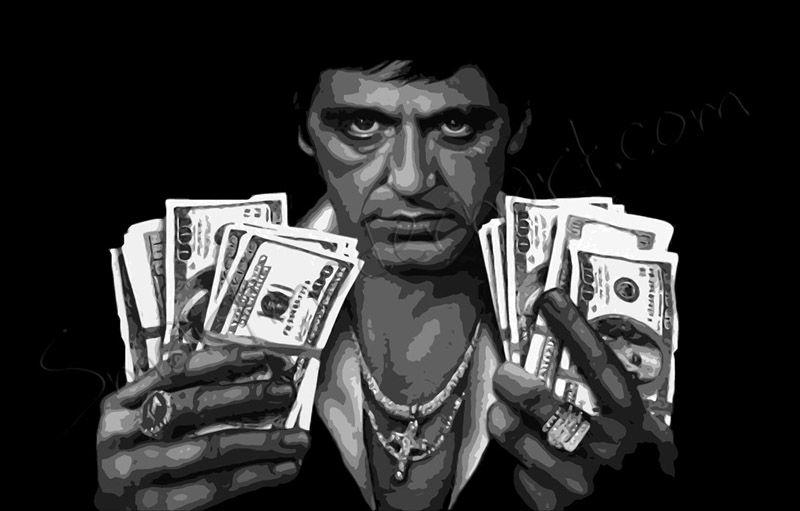 Scarface Canvas, Scarface Money Umění