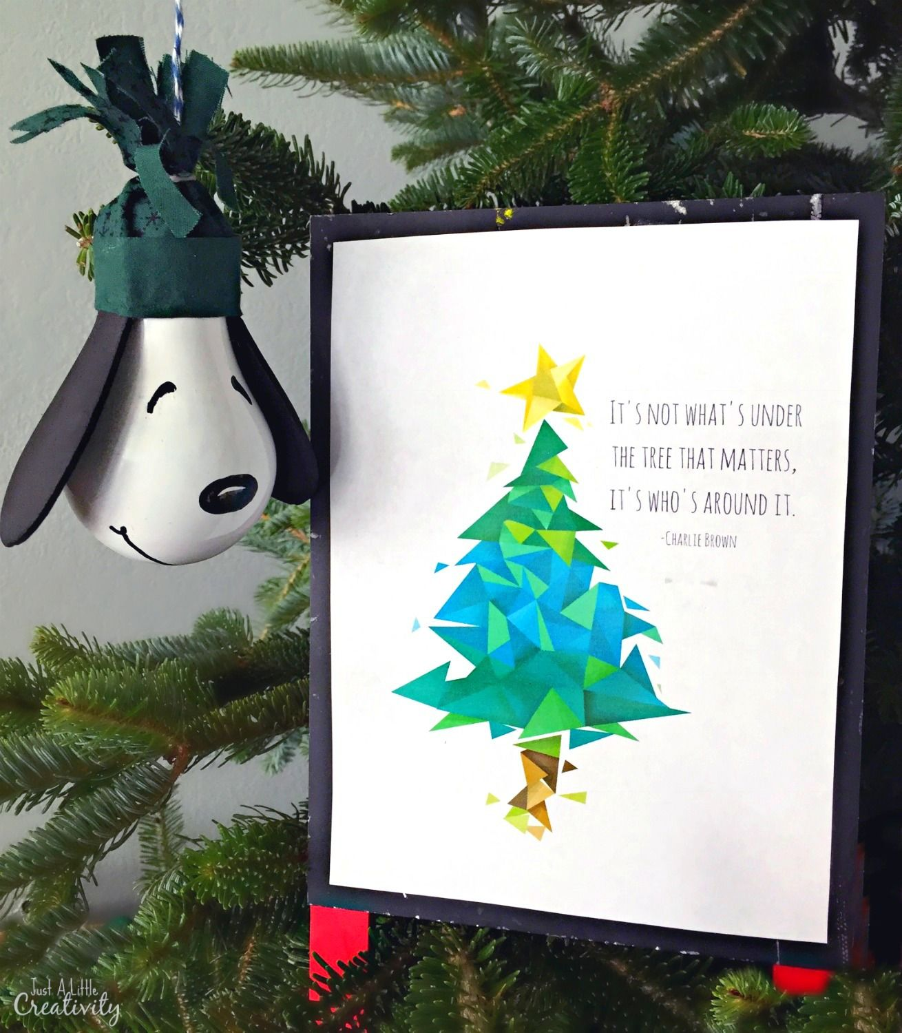 Diy Snoopy Ornament And A Free Charlie Brown Christmas