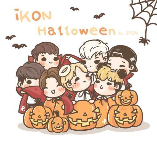 [fanart] Halloween with #iKON