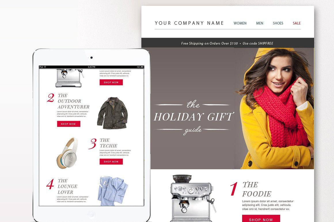 eCommerce Email Template PSD - Email Newsletter Design - Photoshop ...