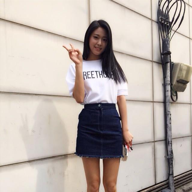 AceOfAngels8: cesttout_'s photo: #AOA Seolhyun for c'est tout denim skirt https://instagram.com/p/38jWN4CFew/