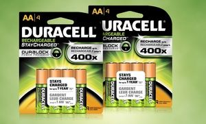 Eight Pack Of Duracell Stay Charged Rechargeable Aa Batteries Free Returns Duracell Recharge Charging
