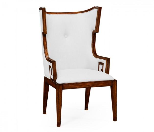 Greek key design Biedermeier walnut armchair - COM in 2020 ...