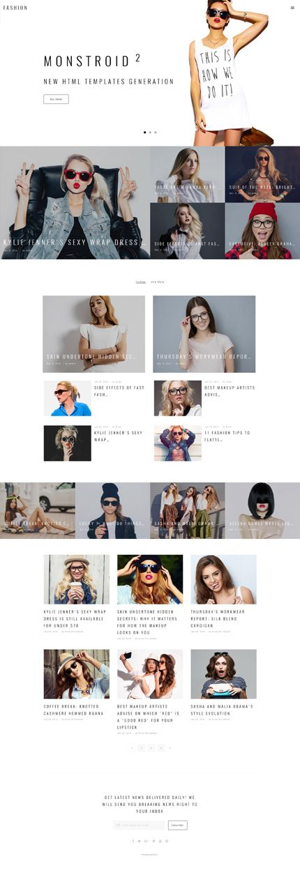 Fashion & Trends #website #template. #themes #business #responsive #websitethemes