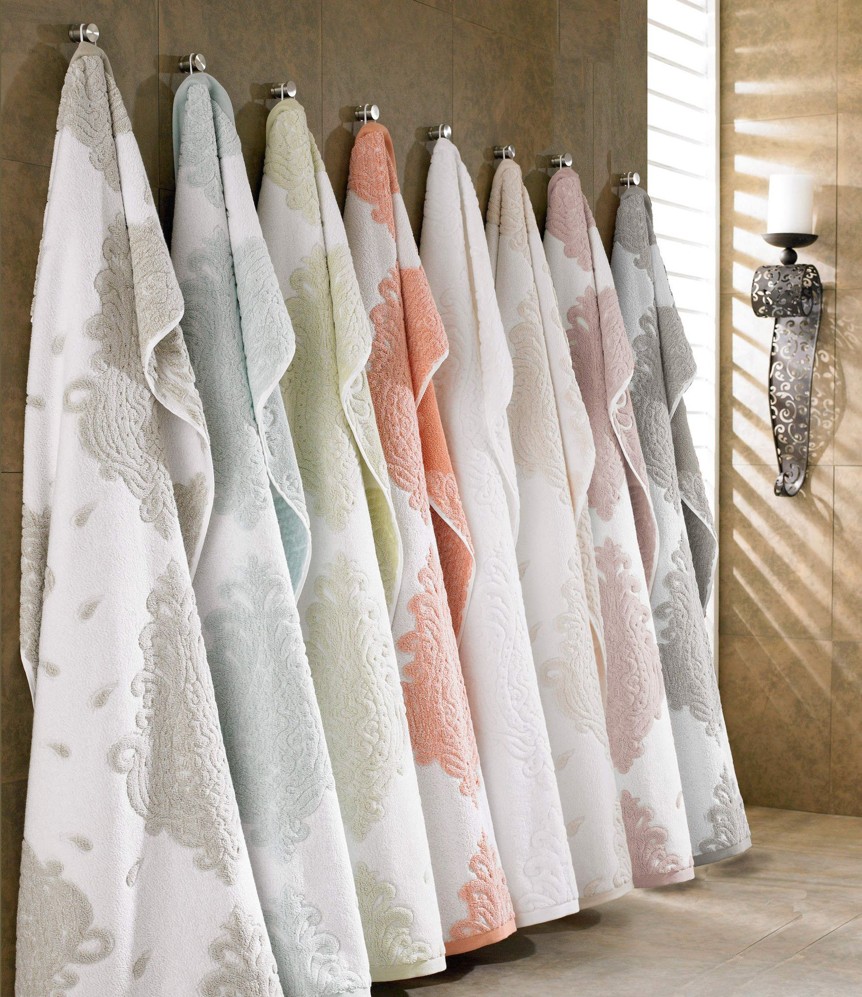 Premium Long Staple Turkish Cotton Jacquard Designer Towel Set ...