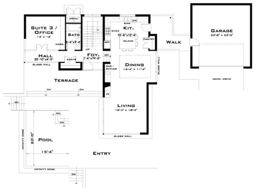 Modern Modern Style House Plans Modern House Plan House Plans