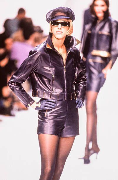 Emma Sjoberg for Claude Montana Spring 1991