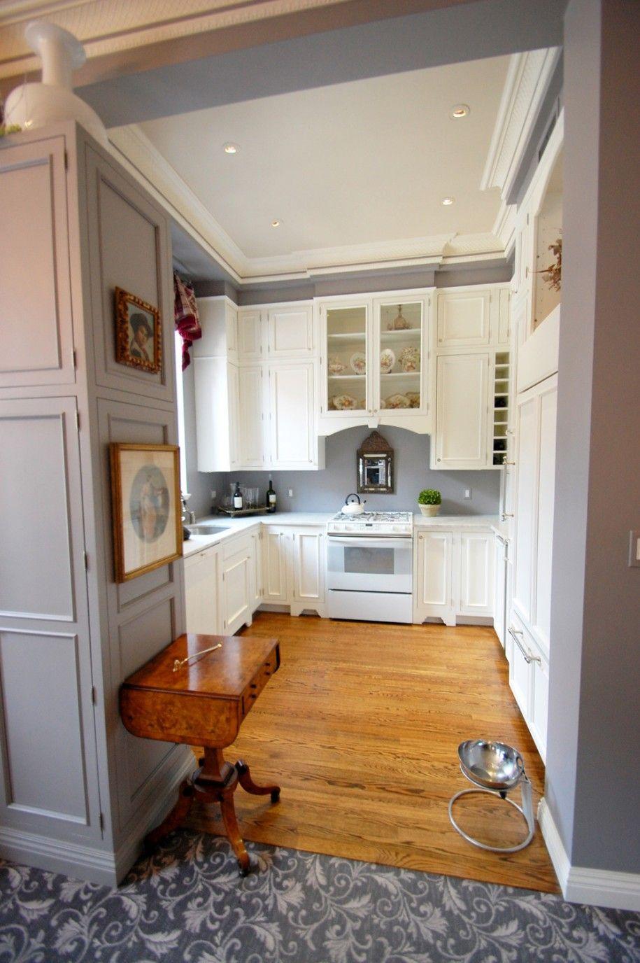 white cabinets and gray walls   Grey kitchen walls ...