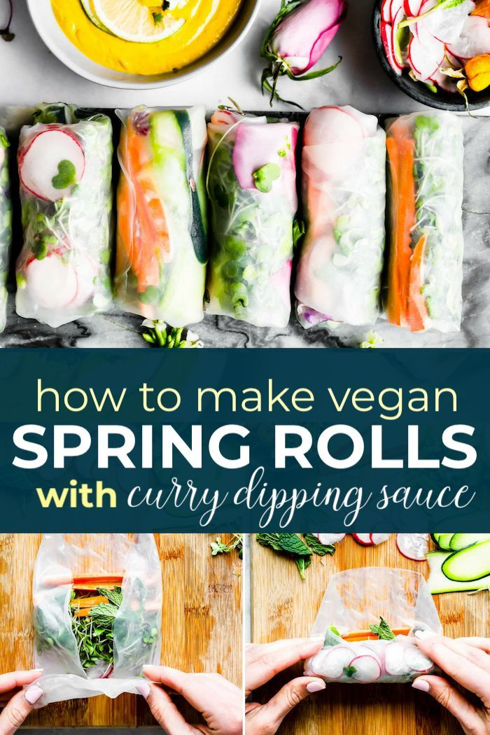 Vegan Spring Rolls With Ginger Curry Dipping Sauce