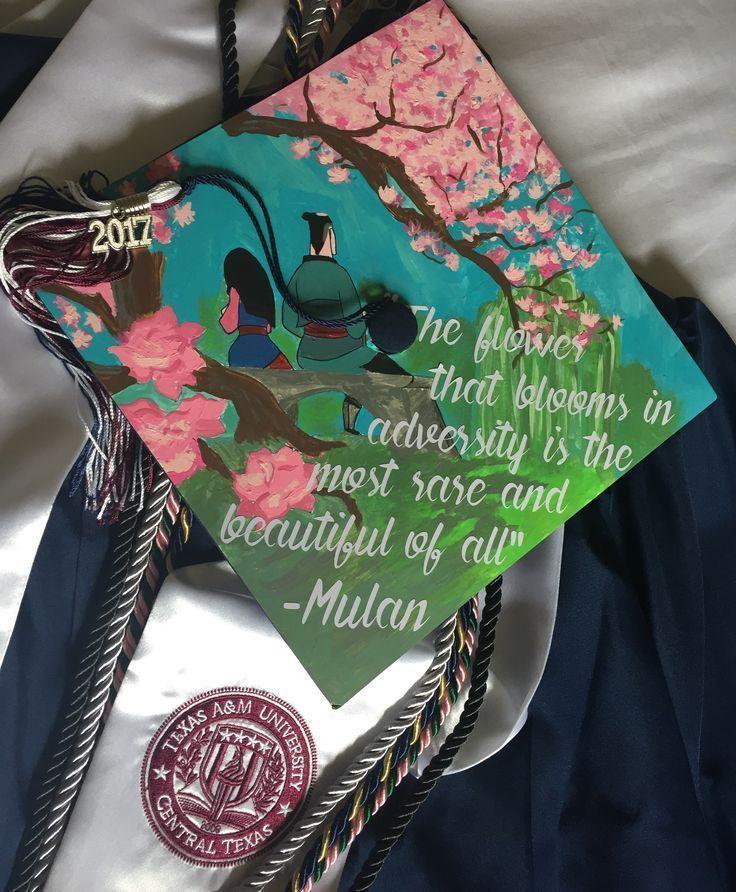 Meine Abschlusskappe zum Thema Mulan :) – – #decoration – #cap #Decoration #graduation #mulan