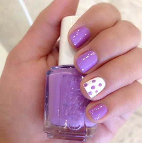 Purple white polka dots!