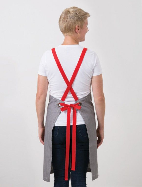 cargo crew mix it up apron straps in tomato red cafe uniforms - Red Cafe Ideas