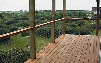Deck Railing Design Ideas different width vertical board railing Deck Railing Systems