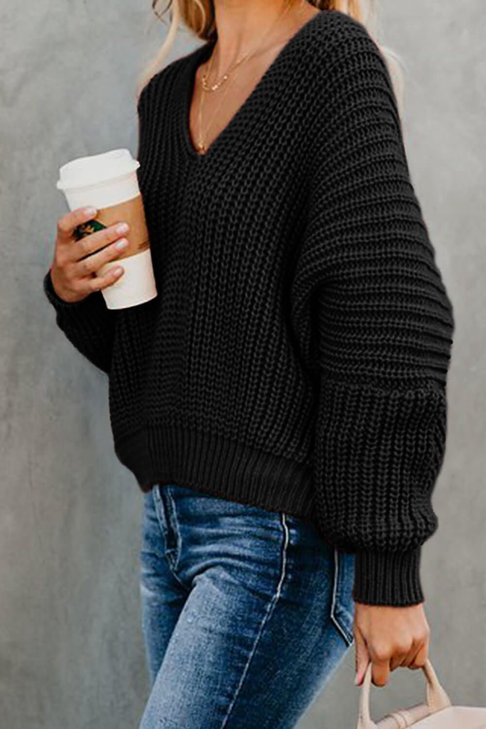 Black Pullover Winter Sweater Plus Size Clothing Black Sweater Sweater For Women Warm Sweater Women Pullover Loose Knit Sweater