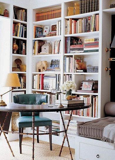Home library/office Home Body Pinterest Spaces, Interiors and
