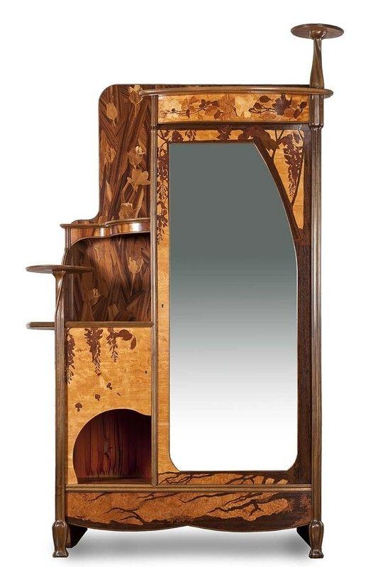 Wardrobe Louis Majorelle Nancy 1900 Meubles Art Nouveau Armoire A Glace Mobilier De Salon