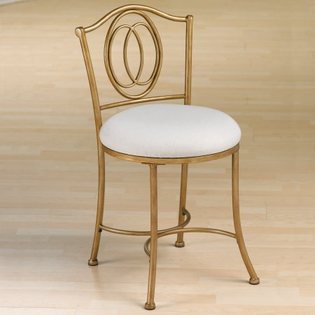 Awe Inspiring Hillsdale Furniture Emerson Vanity Stool Golden Bronze Gmtry Best Dining Table And Chair Ideas Images Gmtryco