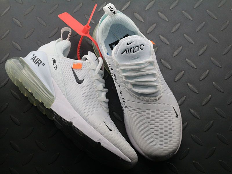 Off white x Nike Air Max 270 OW White Black Orange Women Men