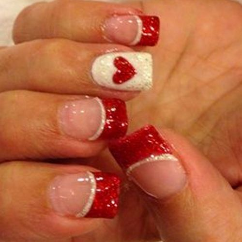 17 Red Hot Valentine S Day Nails For 2018 Nails Valentine