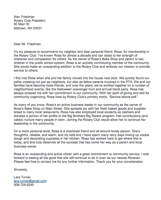 Valid Sample Character Reference Letter For A Friend For