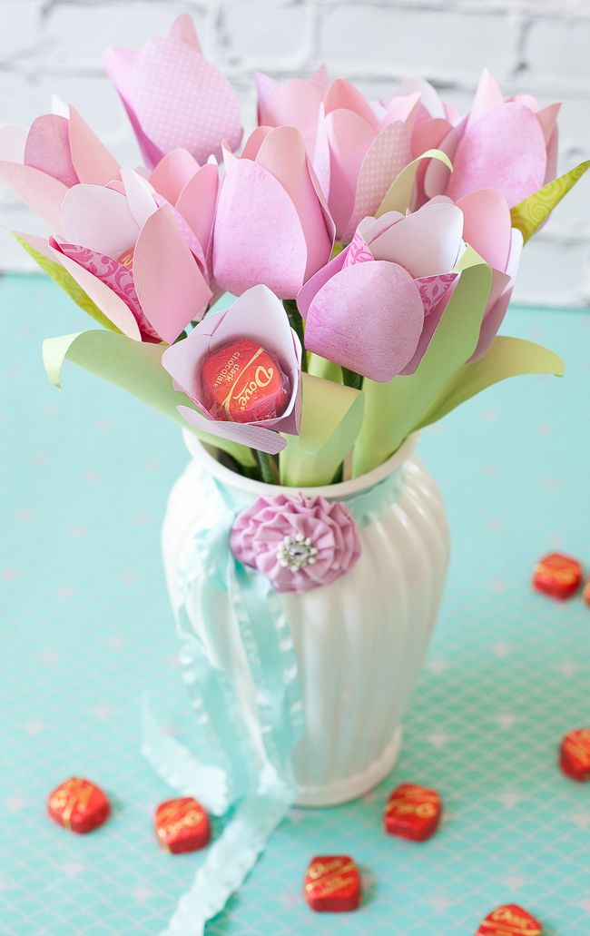 Mother S Day Cheery Chocolate Paper Tulip Tutorial Mother S Day