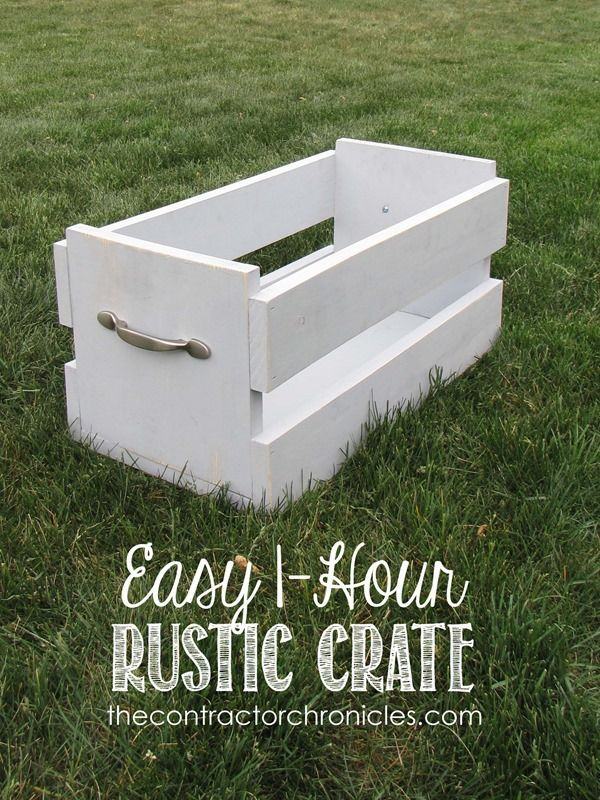 DIY Easy One Hour Rustic Crate
