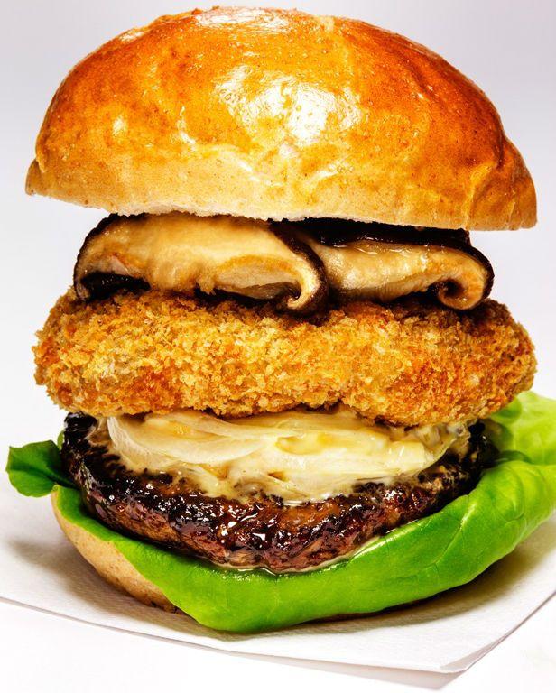 しいたけが主役 肉厚でジューシー極まりない This 伊豆 しいたけバーガー 食べ物のアイデア しいたけ バーガー