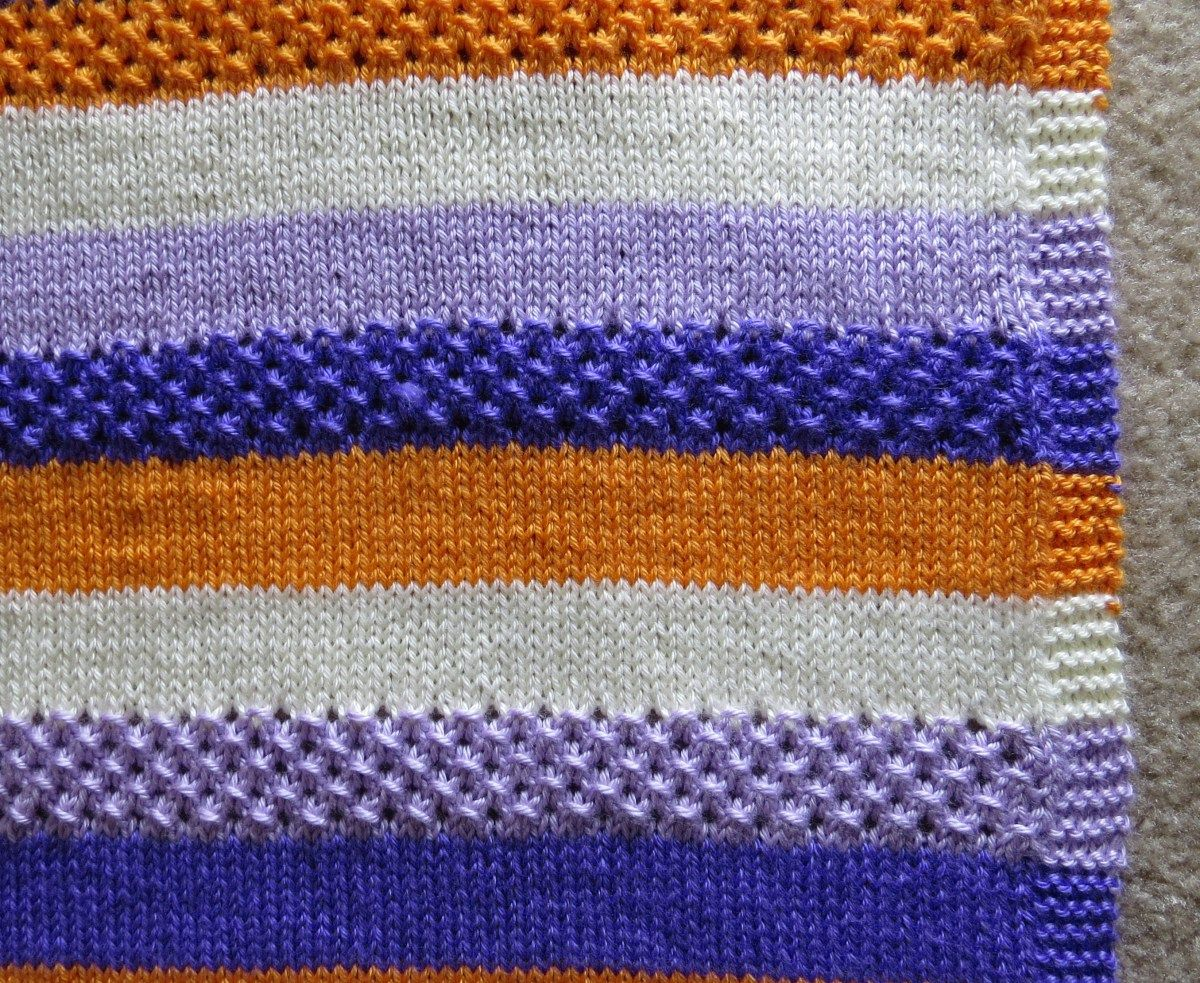 Textured stripes Knitted baby blanket | Knitted baby ...