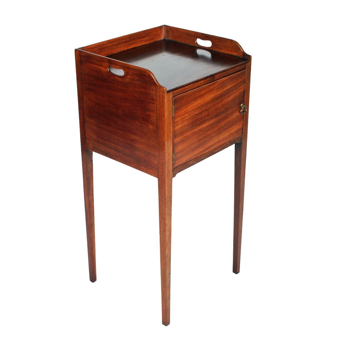 Georgian Mahogany Bedside Cabinet Antique Bedroom Furniture And Fit
