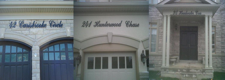 Custom Script Cursive Address Sign Address Plaque House Number Sign Address Sign House Number Sign Address Plaque