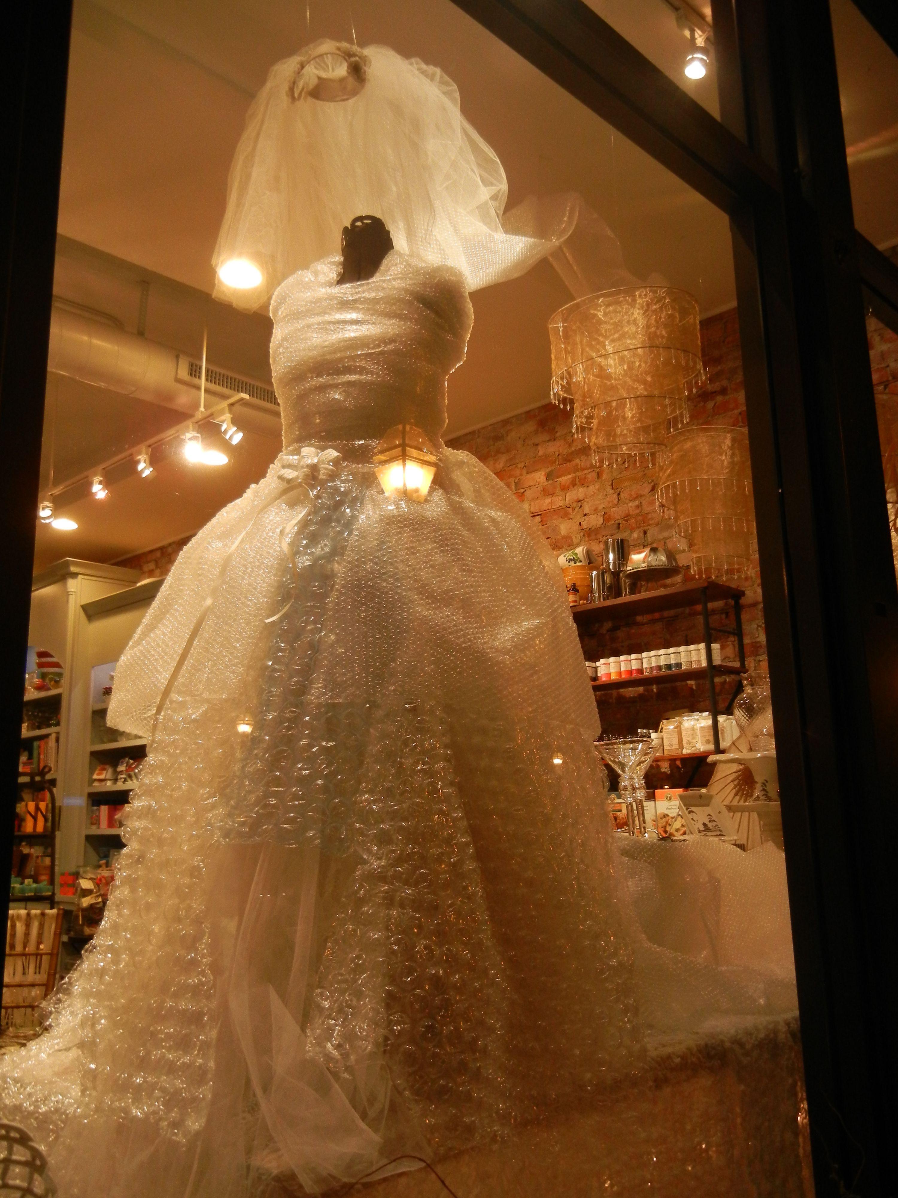 Bubble Wrap Dress I Helped Make For Marcel S Window